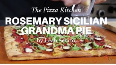 The Pizza Kitchen – Rosemary Sicilian Grandma Pie