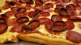 Rosario's PB Cup n Char Pizza is a Pepperoni Lover's Dream!