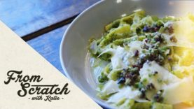 From Scratch With Katie: Farfalle Pasta with Fresh Basil Pesto